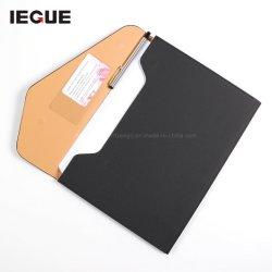 غطاء حامل التصميم الجديد مجلد ملفات جلد مستند مخصص قابل للتوسيع حقيبة