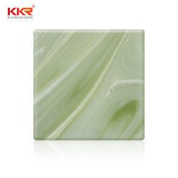 8mmの軽い装飾の半透明な大理石はアクリルの固体表面を好む
