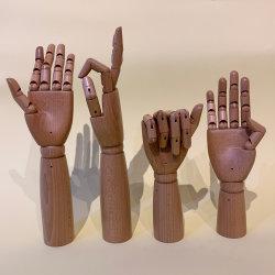 カスタマイズされたブナの森の表示はハンドバッグの表示のための女性の固体木手を渡す