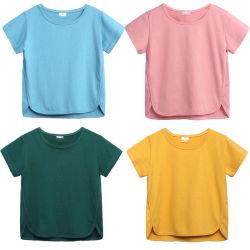 100 % coton biologique garçon T Shirts filles Candy Tops Tee enfants Vêtements de couleur Kids Tee-shirts de base