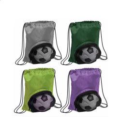 حقيبة ظهر من النايلون شبكي خفيف الوزن للغاية وصالة ألعاب رياضية وكرة طائرة/كرة قدم/كرة سلة وحقائب درج
