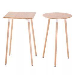 Startseite Bars Tischzähler Holz Korn Indoor Kleine Runde Bar Tisch für Hotel oder Bar oder Geschäfte