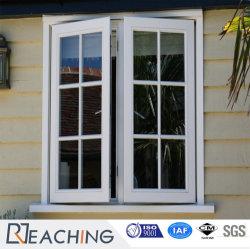 UPVC двойные стекла/ПВХ профиля пластиковые окна дверная рама перемещена с грилем дизайн