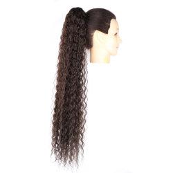 Долго глубокую волны Ponytail кулиской Ponytail синтетические волосы из синтетических материалов по прибору CLIP Kinky Ponytail устройства обвязки сеткой
