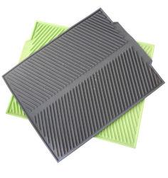 Tapete de secagem de silicone resistente ao calor Non-Slip Tabela Escorredor Prato Bandeja Mesa resistente a secagem Mat Tapete de Drenagem do prato de dobragem de cozinha