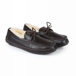 Sheepskin Gentls nuevos estilos casuales hechos a mano pura Lofer formal de la Oficina de cuero auténtico Zapatos para hombres