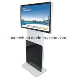 En el interior 43/47/49/55/65 pulgadas Vertical/Horizontal giratorio Online Totem reproductor multimedia digital kiosco electrónico de centros comerciales, pantalla LCD táctil pantalla digital de vídeo