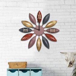 De Kunst van de muur van Decoratie van het Huis van het Decor van de Muur van de Bladeren van het Metaal van de Douane de Hand Geschilderde