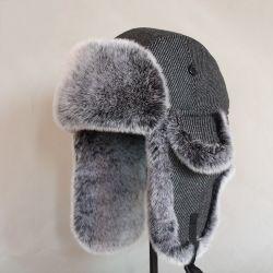 Commerce de gros Windproof capot de l'oreille d'hiver chaud chaud trappeur confortable la fausse fourrure Fédération Hat