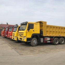 Usado Caminhão HOWO FAW JAC Shacman Dongfeng Beiben Foton Usado Caminhão Basculante 6*4 10 Rodas caminhão de caixa basculante
