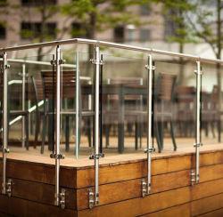 Vidro de Aço Inox Terraço guarda da balaustrada/varanda Baluster de Aço Inoxidável