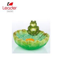 De Directe Ceramische Kleurrijke Kikker van de fabriek met het Vogelbad van de Tuin van de Bloem