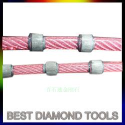 プラスチックダイヤモンドワイヤーはCNCのダイヤモンドのための切断が花こう岩ワイヤーで縛るために打抜き機を見たことを見た