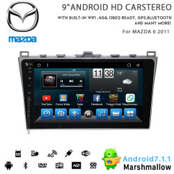 Huit coeurs Vshauto Android 8.1 LECTEUR DVD pour voiture Mazda 6 2011