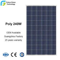 240W Poly silício cristalino de painéis solares de energia verde