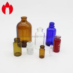 3ml 5 ml 10ml 30ml 50ml 100ml claro ou frasco de vidro farmacêutica roscado âmbar