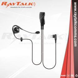 Gancho de orelha Fone de ouvido com microfone boom PTT e pequenos para os rádios de duas vias