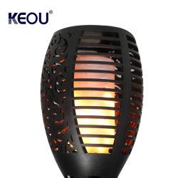 Commerce de gros changement de couleur Multi-Color ABS PC IP65 Lampe torche étanche extérieur de la Pelouse Yard Smart flamme LED lumière solaire en surface