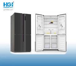 No hay libre de heladas refrigerador 4 puertas de cristal gran nevera 492L Modelo: Kdcd-492wecp2