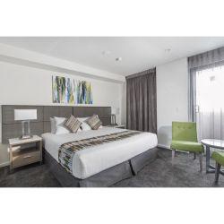 Foshan Manufacturer أثاث حديث من غرفة نوم الفندق مع حامل تلفزيون / رأس سرير مزدوج واحد