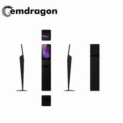 شاشة عرض إعلانات LCD الدائمة بحجم 21.5 بوصة نموذج طابعة Kiosk الحرارية مع موزع آلي 1080p HD LCD Digital Signage Management شاشة عرض LED لإعلانات