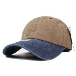 قبعة مستودع 100% القطن بالجملة والقطن القابل للضبط غطاء سداسي لوحة للبايسبول الصلب