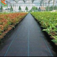 Tejido de polipropileno Weedmat textil alfombrilla anti hierba cubierta de tela verde de tierra