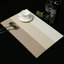 OEM耐熱性印刷されたPVC防水レストラン表マット