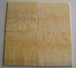 自然な大理石の半透明で黄色いカラー蜂蜜のオニックスの浴室または背景または床または壁のタイル