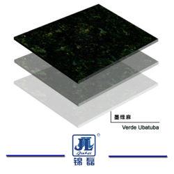 Granito verde scuro Polished naturale di Verde Ubatuba per la parte superiore di vanità del controsoffitto della cucina