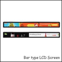 WiFiかイーサネットの人間の特徴をもつ表示23.1インチ棚の表示のための超広い棒タイプLCDスクリーン