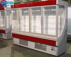 Стороны кривой дизайн коммерческих холодильник с большой потенциал для Торговых Центров