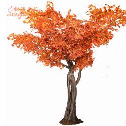 Hermoso Chineese mediados de otoño Festival de otoño las hojas del árbol artificial arce rojo Artificial
