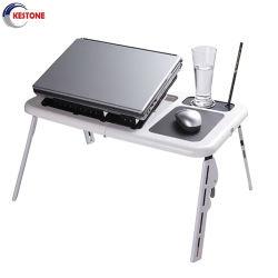 Ordinateur de bureau pour ordinateur portable de pliage réglable Statif de Table Table pliable plateau ventilateur de refroidissement pour ordinateur portable un canapé-lit