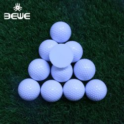 Commerce de gros bon marché d'impression OEM 2 couches Driving Range Balle de Golf