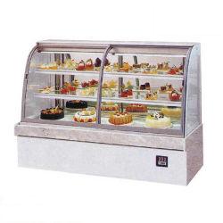 Preiswerter hoher drei Seiten-vertikaler Glaskuchen gekühltes Verkaufsmöbel