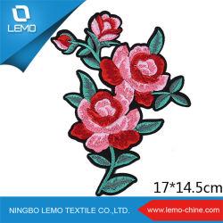 Design de flores de bricolage Ferro em Bordados Patch para decoração de vestuário