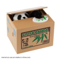 Panda ladrón robó automático Coin Hucha niños cajas de dinero