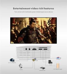 Интерьер UC36 светодиодный индикатор зарядки USB Mini карманного проектора проектор для домашнего кинотеатра с индикатором