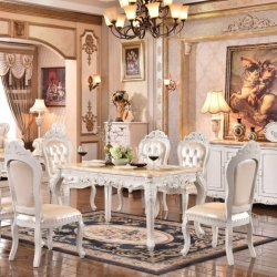 Het Europese Meubilair van de Zaal Dinning van de Stijl Stevige Houten van Lijst Dinning en Stoel Dinning