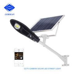 La Cámara de control de aplicaciones WiFi 50W 100W 150W 6500K LED Solar integrada Controlador de la luz de la calle