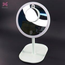 Аккумулятор зеркало для макияжа с регулируемой яркостью зеркала в противосолнечном козырьке для поездок поверхность стола косметический увеличительное зеркало заднего вида