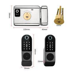 Eneスマートな電子縁のDeadboltロックのBluetooth APP WiFi Tuyaの指紋ロックのキーパッドのカードのドアロック