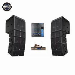 Active un ensemble complet Powered enceinte de line array Audio professionnel système avec amplificateur classe D et DJ mixeur microphone