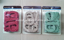 Adesivo glitter Alphabet / Die-Cut glitter lettere Scrapbook decorazione decorazione
