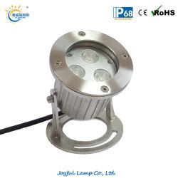 En acier inoxydable IP68 LED Lampe à LED submersibles piscine spa de l'étang de lumière Light lumière LED DMX512 voyant LED situé sous l'eau de la fontaine de la lumière avec ce certificat RoHS