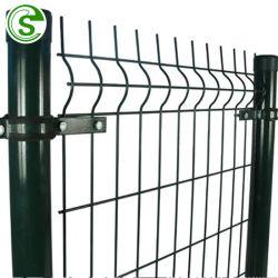 6FT Fil Soudé V décoratif en forme de clôtures de maille avec un carré Post/Round Post