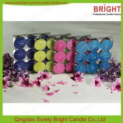 Weihnachten gerochene farbige Tee-Leuchte-Kerzen