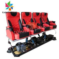 Chariot Mobile parc coloré 4 sièges 5D/7D interactive Arcade de cinéma d'action pour la vente de la machine