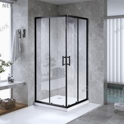 Опускное стекло задней двери в ванной комнате заводская цена стеклянной душевой кабинки в черный